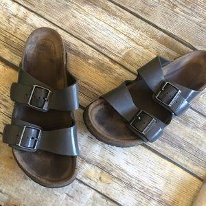 Gray Birkenstock Arizona Sandals Women's 9.5